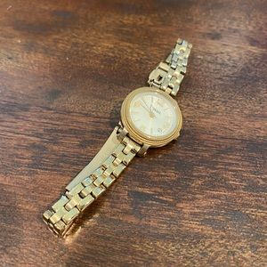 Fossil Gold Mini Face with gold band